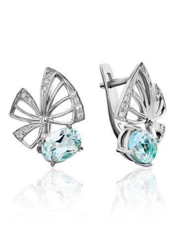 Cute Silver Topaz Earrings, image