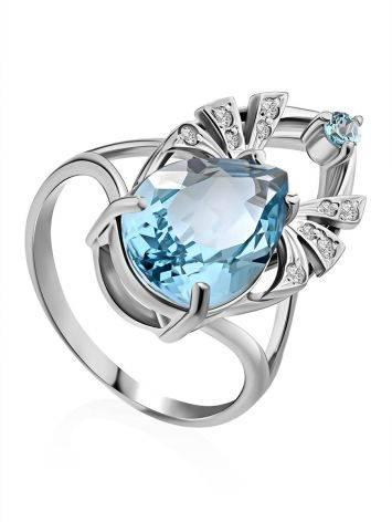 Amazing Silver Topaz Ring, Ring Size: 7 / 17.5, image