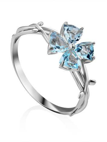 Cute Silver Topaz Ring, Ring Size: 6.5 / 17, image