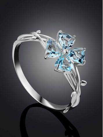 Cute Silver Topaz Ring, Ring Size: 6.5 / 17, image , picture 2