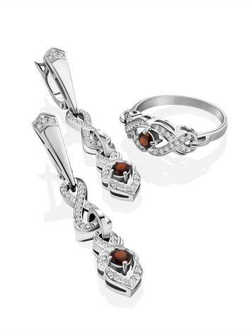Vintage Style Silver Garnet Ring, Ring Size: 6 / 16.5, image , picture 4