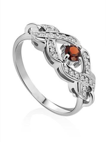 Vintage Style Silver Garnet Ring, Ring Size: 6 / 16.5, image