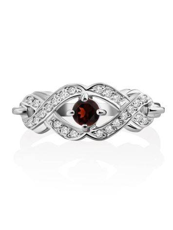 Vintage Style Silver Garnet Ring, Ring Size: 6 / 16.5, image , picture 3
