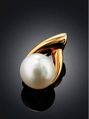 Elegant Gilded Silver Pearl Pendant, image , picture 2