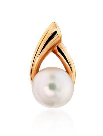 Elegant Gilded Silver Pearl Pendant, image