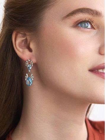 Classy Silver Topaz Drop Earrings, image , picture 3