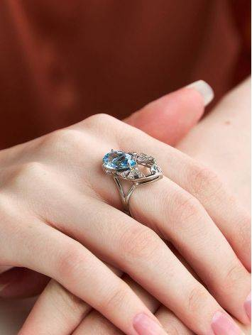 Amazing Silver Topaz Ring, Ring Size: 7 / 17.5, image , picture 3
