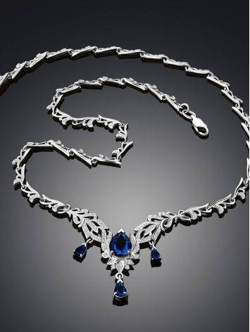 Fabulous Feather Motif Silver Spinel Necklace, image , picture 2