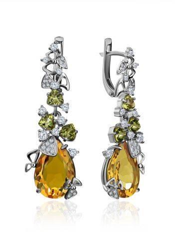 Dazzling Silver Zultanite Drop Earrings, image