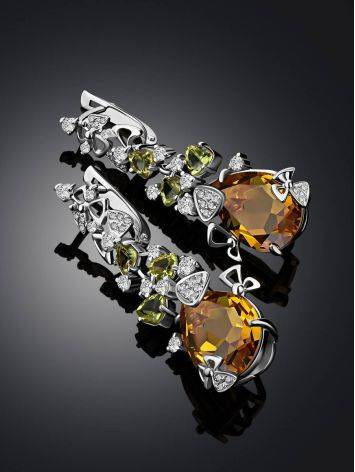 Dazzling Silver Zultanite Drop Earrings, image , picture 2