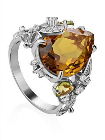 Dazzling Silver Zultanite Ring, Ring Size: 8.5 / 18.5, image