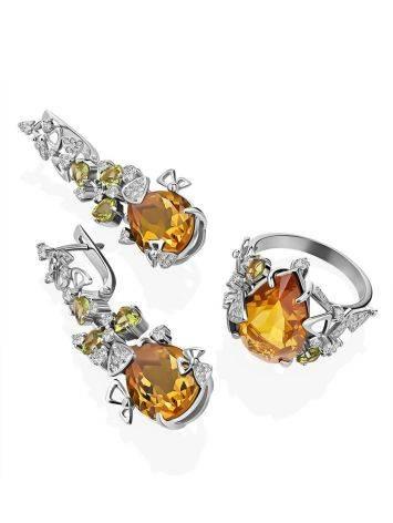 Dazzling Silver Zultanite Drop Earrings, image , picture 4