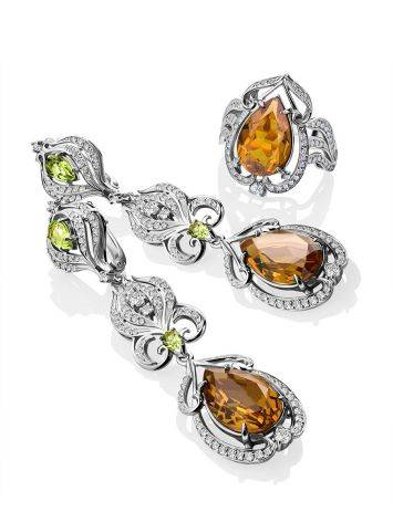 Refined Silver Zultanite Drop Earrings, image , picture 4
