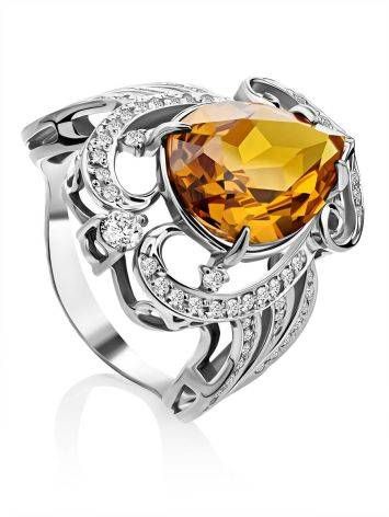 Bold Silver Zultanite Cocktail Ring, Ring Size: 9 / 19, image