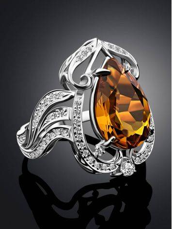 Bold Silver Zultanite Cocktail Ring, Ring Size: 9 / 19, image , picture 2