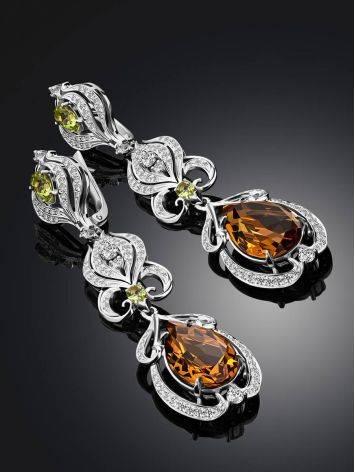 Refined Silver Zultanite Drop Earrings, image , picture 2