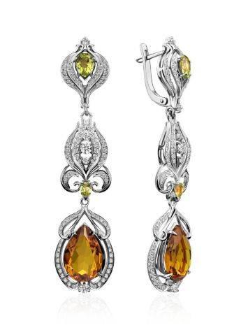 Refined Silver Zultanite Drop Earrings, image