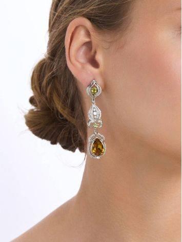 Refined Silver Zultanite Drop Earrings, image , picture 3