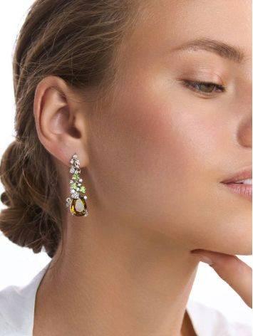 Dazzling Silver Zultanite Drop Earrings, image , picture 3