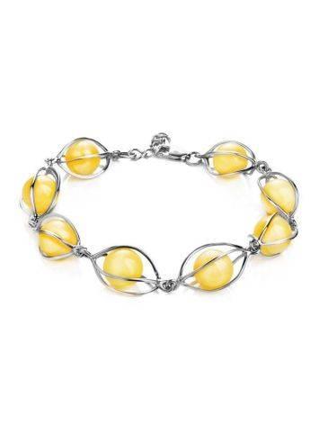 Link Amber Bracelet In Sterling Silver The Algeria, image
