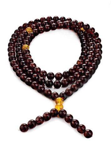 Cherry Amber Buddhist Prayer Beads, image