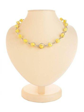 Honey Amber Necklace In Sterling Silver The Algeria, image