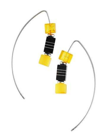 Multicolor Amber Earrings In Sterling Silver The Sugar, image