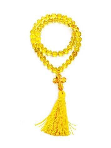 Orthodox 50 Lemon Amber Prayer Beads, image