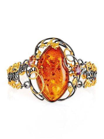 Gold Plated Bracelet With Amber And Crystals The Triumph, image