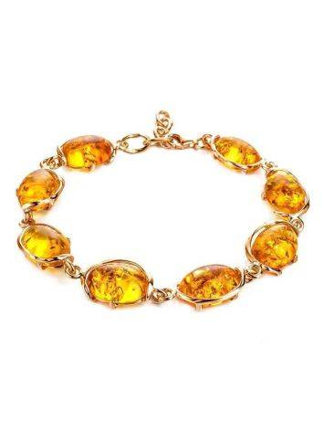 Link Amber Bracelet In Gold Plated Silver The Vivaldi, image