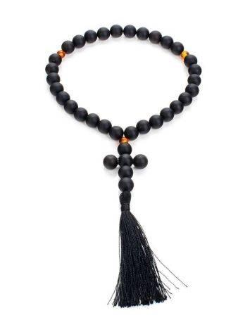 Orthodox 33 Black Amber Prayer Beads The Cuba, image