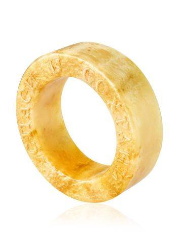 Engraved Amber Band Ring The Magma, Ring Size: 6.5 / 17, image