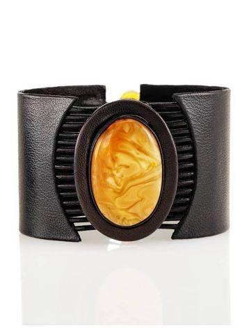 Dark Amber Bracelet With Oval Cut Honey Amber The Amazon, image