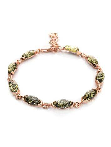 Link Amber Bracelet In Gold Plated Silver The Petal, image