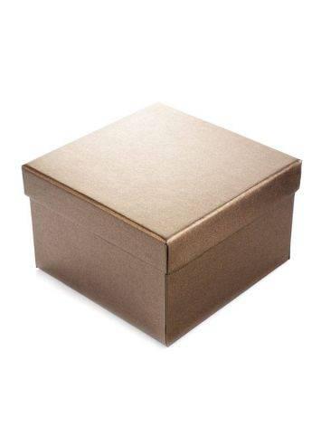 Bronze Color Cardboard Gift Box, image