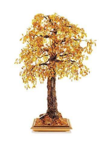 Cognac Amber Decorative Feng Shui Money Tree, image