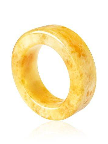 Honey Amber Band Ring The Magma, Ring Size: 8.5 / 18.5, image