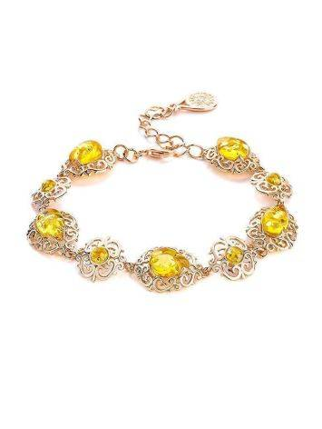 Amber Bracelet In Gold Plated Silver The Luxor, image