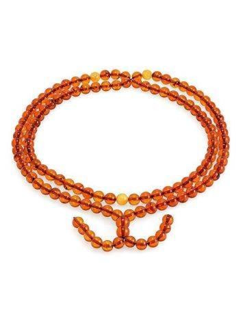 Cognac Amber Buddhist Prayer Beads, image
