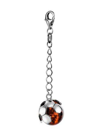 Silver Keychain With Cherry Amber The League, image