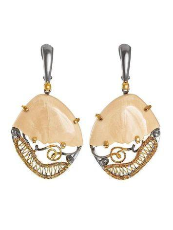 Voluptuous Mammoth Tusk Earrings In Gold-Plated Silver The Era, image