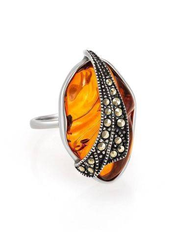 Amber Cocktail Ring With Marcasites The Colorado, image