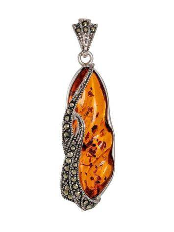 Amber Statement Pendant With Marcasites The Colorado, image