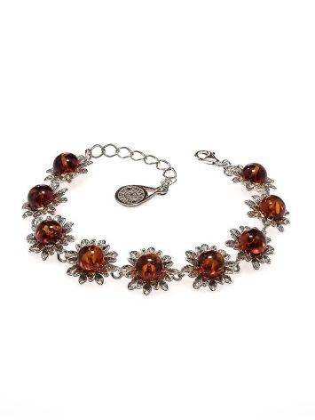 Cherry Amber Bracelet In Sterling Silver The Aster, image