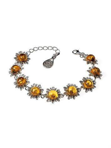 Amber Bracelet In Sterling Silver The Aster, image