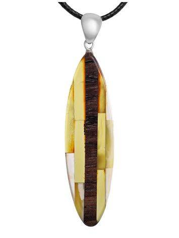 Wooden Pendant With Amber And Mammoth Tusk The Indonesia, image