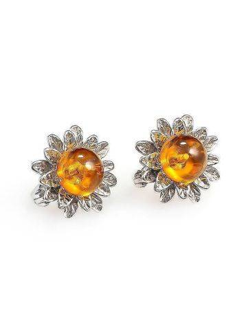 Amber Earrings In Sterling Silver The Aster, image