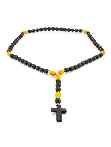 50 Olive Cut Amber Rosary The Cuba, image