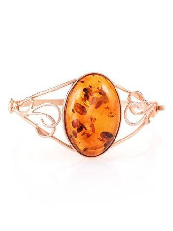 Handmade Amber Bracelet In Gold Plated Silver The Rialto, image