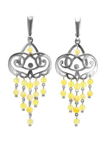 Amber Earrings In Sterling Silver The Siesta, image